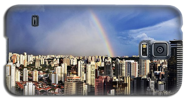 Rainbow Over City Skyline - Sao Paulo Galaxy S5 Case