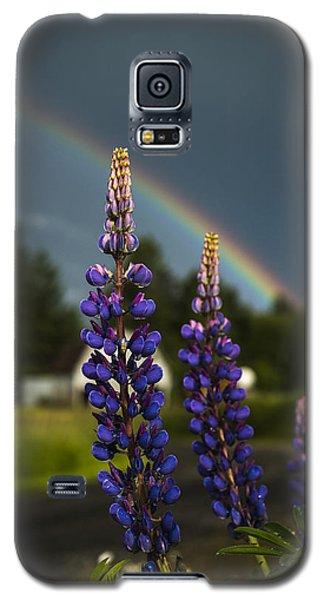 Rainbow Over Lupine  Galaxy S5 Case