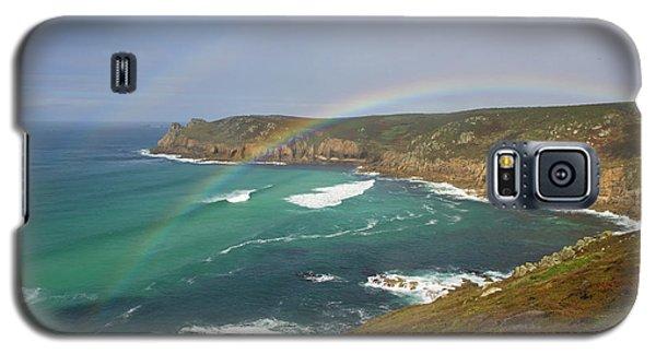 Rainbow Over Nanjizal Bay In Cornwall Galaxy S5 Case