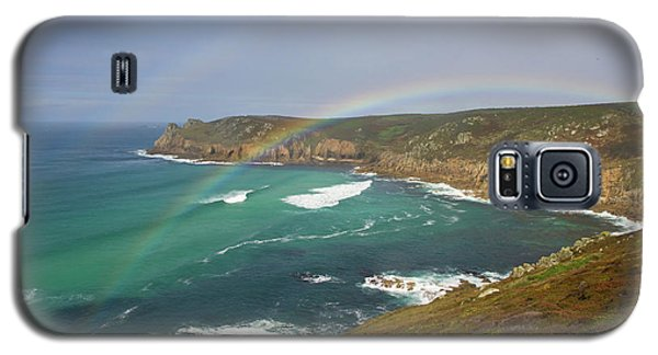 Rainbow Over Nanjizal Bay In Cornwall Galaxy S5 Case