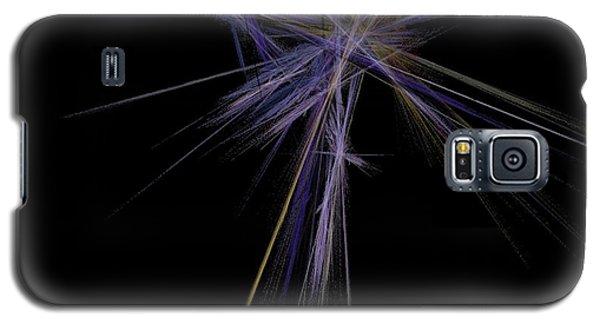 Galaxy S5 Case featuring the digital art Rainbow Palm by Sara  Raber