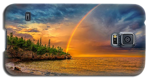 Rainbow Point Galaxy S5 Case