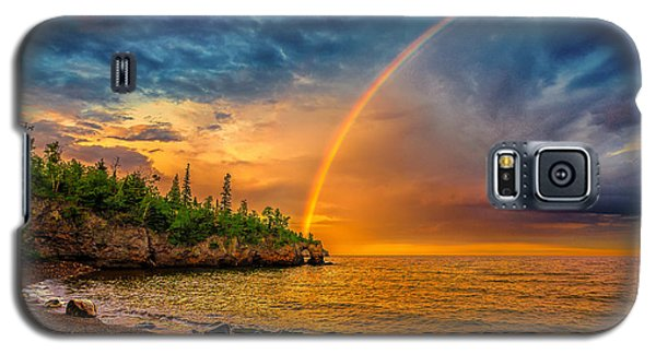 Rainbow Point Galaxy S5 Case