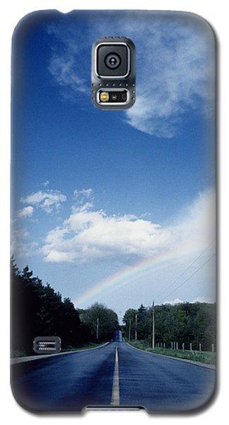 Rainbow Road Blue Sky Galaxy S5 Case