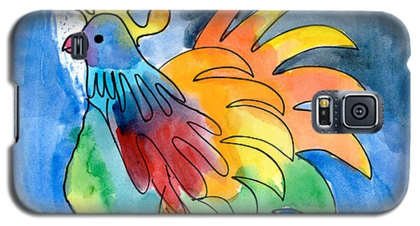 Rainbow Rooster Galaxy S5 Case