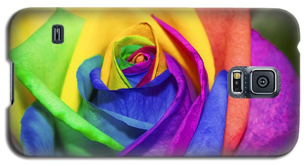 Rainbow Rose In Paint Galaxy S5 Case