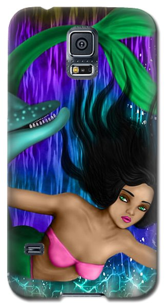Rainbow Sea Mermaid - Fantasy Art Galaxy S5 Case