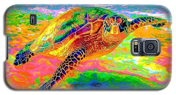 Rainbow Sea Turtle Galaxy S5 Case