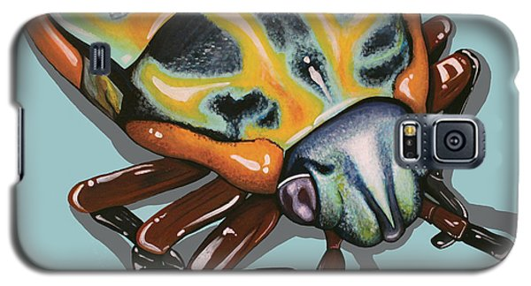 Rainbow Shield Beetle Galaxy S5 Case by Jude Labuszewski