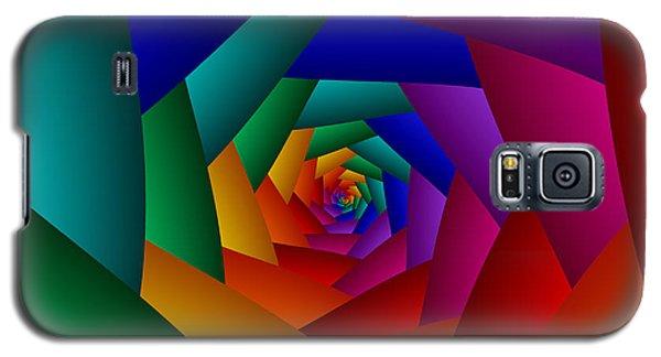Rainbow Spiral Galaxy S5 Case