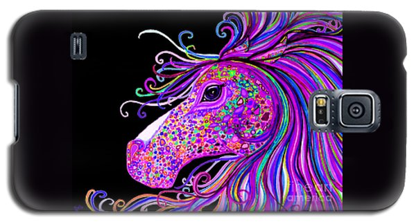 Rainbow Spotted Horse Head 2 Galaxy S5 Case by Nick Gustafson