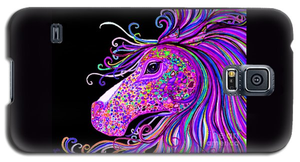 Rainbow Spotted Horse Head 2 Galaxy S5 Case