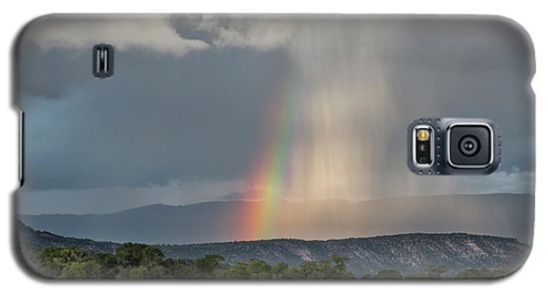 Rainbow Storm Over Log Hill Galaxy S5 Case