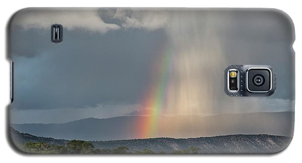Rainbow Storm Over Log Hill Galaxy S5 Case