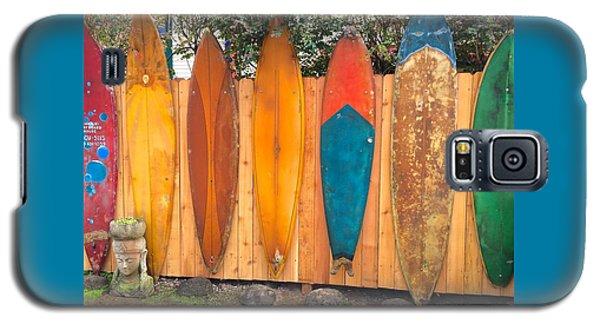 Surfboard Rainbow Galaxy S5 Case by Brenda Pressnall