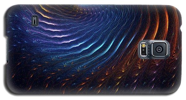 Galaxy S5 Case featuring the digital art Rainbow Swirl by Deborah Benoit