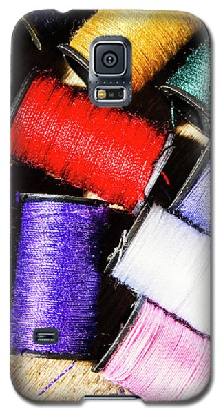 Galaxy S5 Case featuring the photograph Rainbow Threads Sewing Equipment by Jorgo Photography - Wall Art Gallery