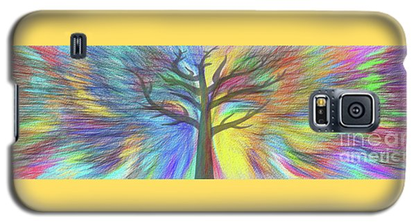 Galaxy S5 Case featuring the digital art Rainbow Tree By Kaye Menner by Kaye Menner
