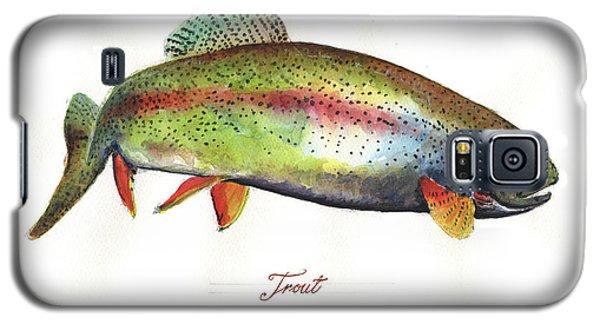 Rainbow Trout Galaxy S5 Case by Juan Bosco