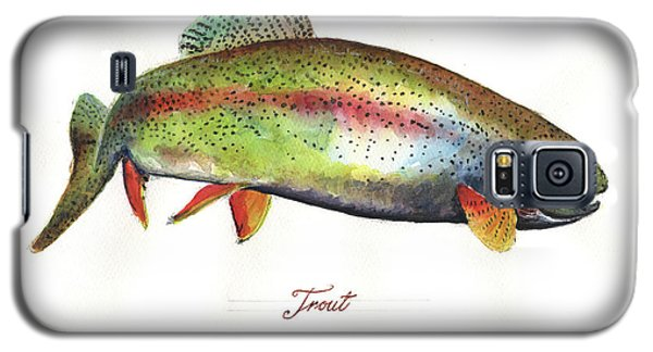 Trout Galaxy S5 Case - Rainbow Trout by Juan Bosco