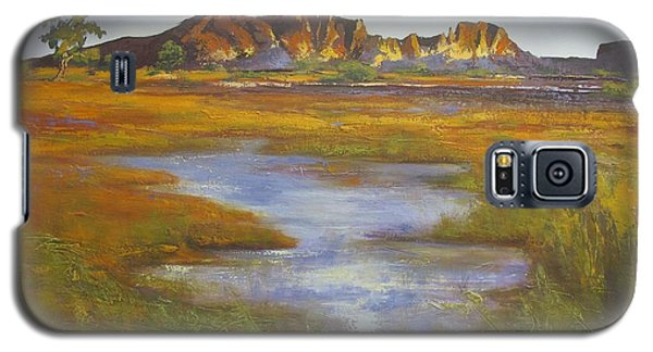 Galaxy S5 Case featuring the painting Rainbow Valley Northern Territory Australia by Chris Hobel
