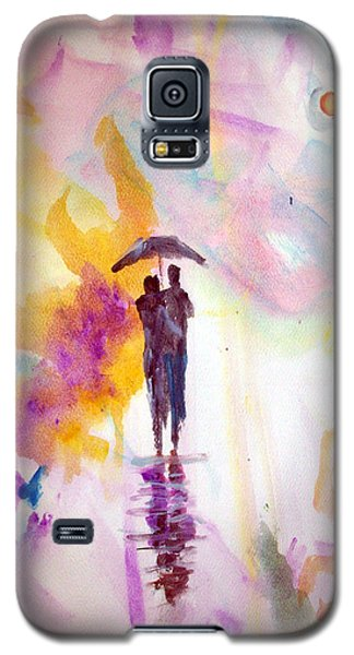 Galaxy S5 Case featuring the painting Rainbow Walk Of Love by Raymond Doward