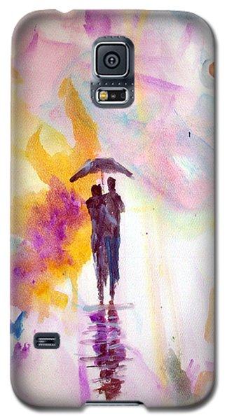 Rainbow Walk Of Love Galaxy S5 Case by Raymond Doward