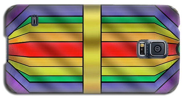 Galaxy S5 Case featuring the digital art Rainbow Wall Hanging Horizontal by Chuck Staley