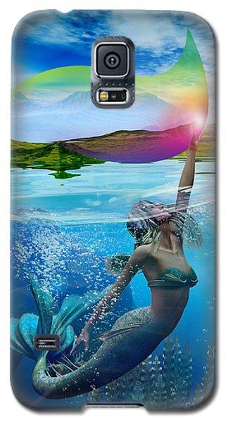 Rainbow Wave Galaxy S5 Case