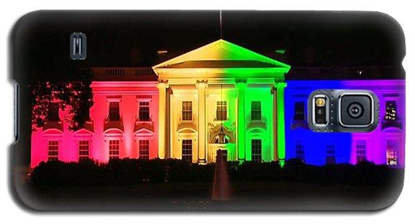 Rainbow White House Galaxy S5 Case