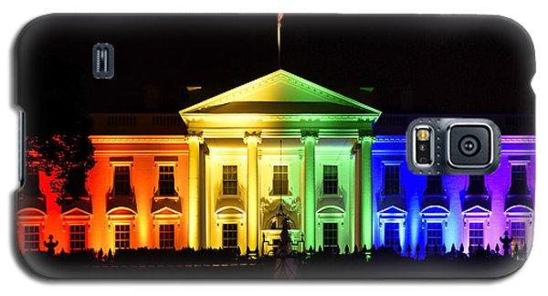 Rainbow White House  - Washington Dc Galaxy S5 Case by Brendan Reals