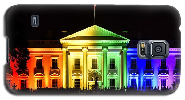 Rainbow White House  - Washington Dc Galaxy S5 Case by Brendan Reals