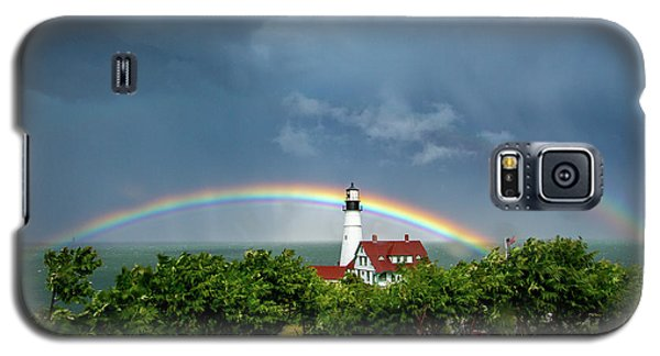Rainbow X 2 At Portland Headlight Galaxy S5 Case
