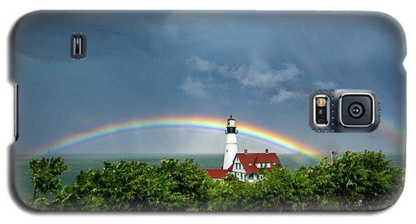 Rainbow X 2 At Portland Headlight Galaxy S5 Case