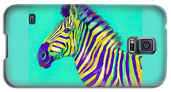 Rainbow Zebra 2013 Galaxy S5 Case by Jane Schnetlage