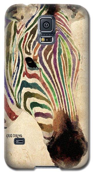 Rainbow Zebra Galaxy S5 Case by Greg Collins