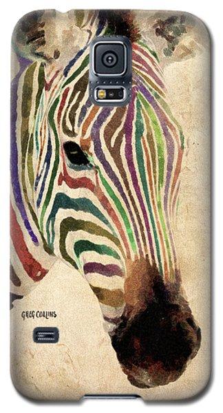 Rainbow Zebra Galaxy S5 Case