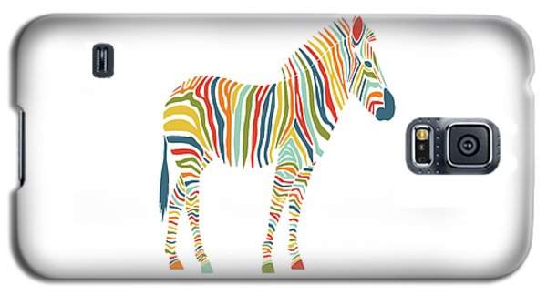 Rainbow Zebra Galaxy S5 Case by Nicole Wilson