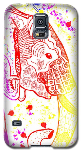 Rainbow Zentangle Elephant Galaxy S5 Case