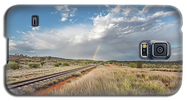 Rainbows Over Ghan Tracks Galaxy S5 Case