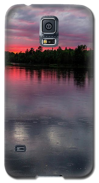 Galaxy S5 Case featuring the photograph Raindrops At Sunset by Mary Amerman