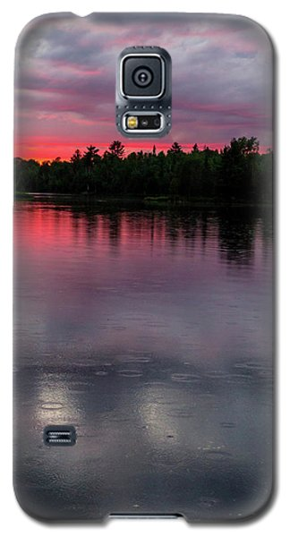 Raindrops At Sunset Galaxy S5 Case by Mary Amerman