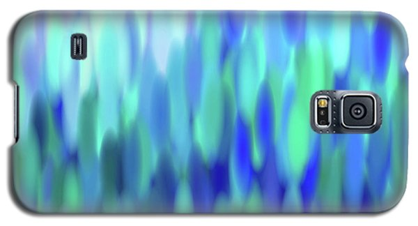 Galaxy S5 Case featuring the tapestry - textile raindrops No.3 by Tom Druin