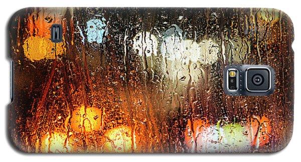 Raindrops On Street Window Galaxy S5 Case