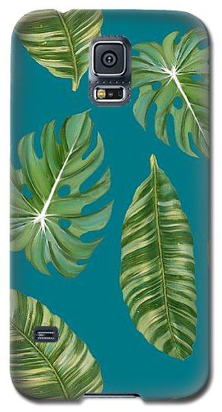Rainforest Resort - Tropical Leaves Elephant's Ear Philodendron Banana Leaf Galaxy S5 Case