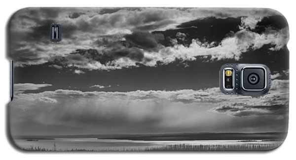 Galaxy S5 Case featuring the photograph Raining At Yellowstone Lake by Jason Moynihan