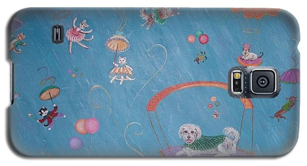 Galaxy S5 Case featuring the painting Raining Cats And Dogs by Dee Davis