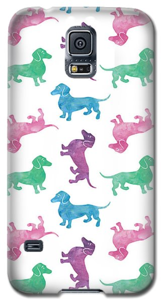 Raining Dachshunds Galaxy S5 Case by Antique Images