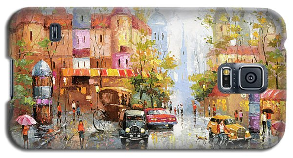 Galaxy S5 Case featuring the painting Rainy Day 3 by Dmitry Spiros