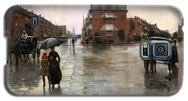Galaxy S5 Case featuring the painting Rainy Day, Boston - 1885  by Frederick Childe Hassam